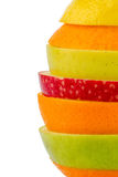 Verschiedne slices of fruits Royalty Free Stock Images