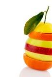 Verschiedne slices of fruits Royalty Free Stock Image