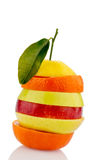Verschiedne slices of fruits Stock Photo