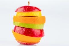 Verschiedne slices of fruits Royalty Free Stock Photo