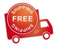 Verschiffen-Rot-LKW des Aufklebers freier Lizenzfreie Stockfotografie
