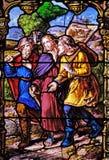 Verschijning aan de twee discipelen op hun manier aan Emmaus stock foto's
