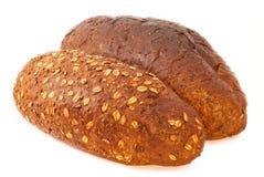 Verschillend brood met melk Stock Foto's