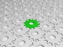 Verschillend groen toestel Vector Illustratie