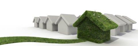 Verschillend huis stock illustratie