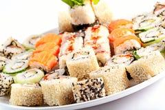 Verschillend Japans voedsel royalty-vrije stock afbeeldingen