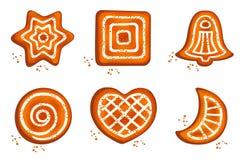 Verschillend koekje stock illustratie