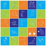 Verschillend Olympics van het spelpictogram of symbool ontwerp Stock Afbeelding
