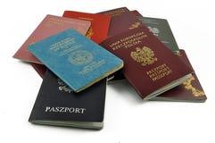 Verschillend, reis, documenten, Stock Afbeeldingen