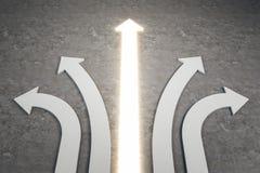 Verschillend richting en keusconcept vector illustratie