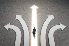 Verschillend richting en succesconcept royalty-vrije stock afbeelding