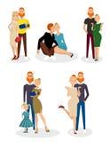 Verschillend soort families Stock Afbeeldingen