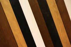 Verschillend soort houten latten Stock Afbeelding