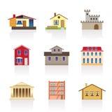 Verschillend soort huizen en gebouwen 1 Royalty-vrije Stock Fotografie