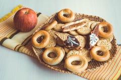 Verschillend soort koekjes Stock Afbeelding