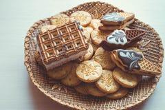 Verschillend soort koekjes Royalty-vrije Stock Afbeeldingen