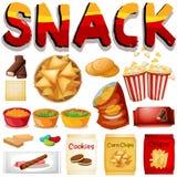 Verschillend soort snack Stock Afbeeldingen