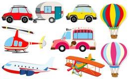 Verschillend soort vervoer Stock Afbeelding