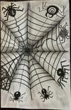 Verschillend Spinnen getrokken Zentangle-type stock illustratie
