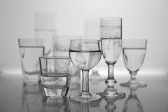 Verschillend type van glazen royalty-vrije stock afbeelding