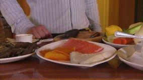 Verschillend visvlees als ingrediënt stock videobeelden