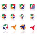 Verschillende abstracte symbolen voor ontwerp Stock Afbeelding