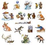 Verschillende animals_3 Stock Foto's