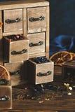 Verschillende aroma's van thee Royalty-vrije Stock Afbeeldingen