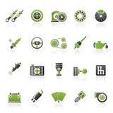 Verschillende Autodeel en de dienstenpictogrammen Stock Foto
