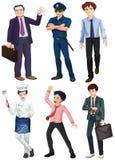 Verschillende beroepen van mensen Stock Afbeelding