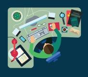 Verschillende beroepen Zaken Stock Afbeelding