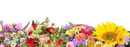 Verschillende bloemboeketten stock afbeelding