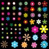 Verschillende bloemen Stock Illustratie