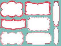 Verschillende boekmerken, frames Stock Afbeeldingen