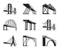 Verschillende bruggen in perspectief vector illustratie