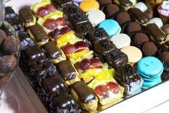 Verschillende cakes stock foto's