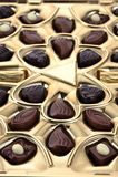 Verschillende chocolade in doos Stock Afbeeldingen