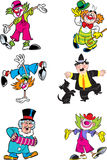 Verschillende clowns stock illustratie