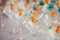 Verschillende cocktails of longdrinks versierd royalty-vrije stock foto