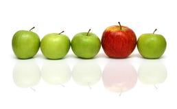Verschillende concepten met appelen stock foto