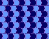 Verschillende Cyaan van de Muur van de Koffie van de optische illusie en Blauw stock illustratie