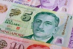 Verschillende de Dollarbankbiljetten van Singapore Stock Fotografie