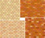 Verschillende de textureninzameling van de kleurenbaksteen Stock Afbeeldingen