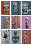 Verschillende deurkloppers royalty-vrije stock afbeeldingen