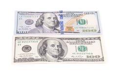 Verschillende dollarrekeningen Royalty-vrije Stock Afbeeldingen