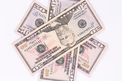Verschillende dollarrekeningen Stock Fotografie