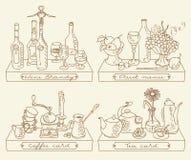 Verschillende dranken Royalty-vrije Stock Fotografie