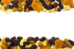 Verschillende droge vruchten en noten Royalty-vrije Stock Afbeeldingen