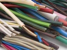Verschillende elektrische kabels. Stock Foto's
