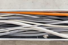 Verschillende elektrische kabels Royalty-vrije Stock Foto's